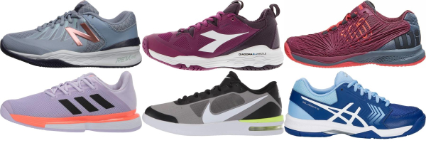 buy purple all court tennis shoes for men and women