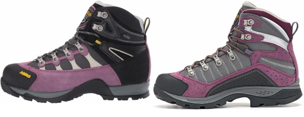 buy purple asolo hiking boots for men and women