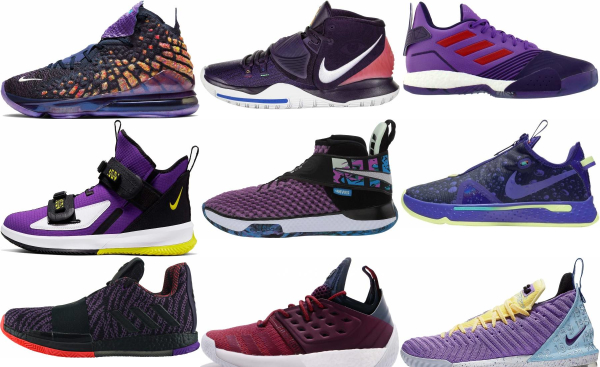 buy purple basketball shoes for men and women
