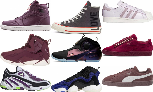 buy purple basketball sneakers for men and women