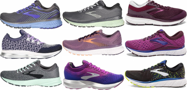 buy purple brooks running shoes for men and women