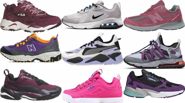 buy purple dad sneakers for men and women