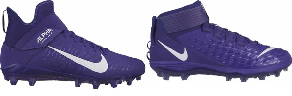 buy purple football cleats for men and women