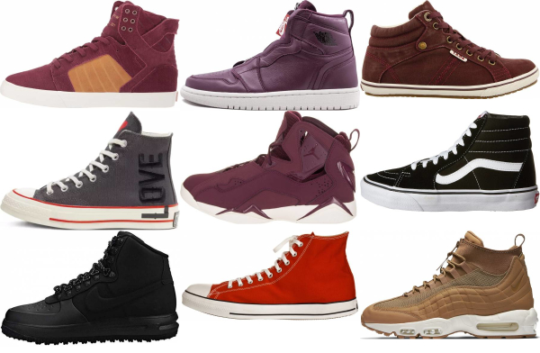 buy purple high top sneakers for men and women