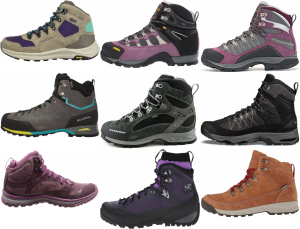 buy purple hiking boots for men and women