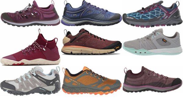 buy purple hiking shoes for men and women