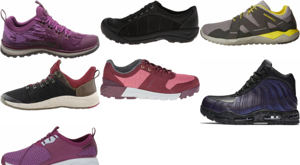 buy purple hiking sneakers for men and women