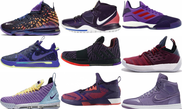 buy purple lace-up basketball shoes for men and women