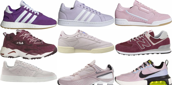 buy purple leather sneakers for men and women