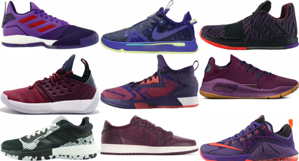 buy purple low basketball shoes for men and women