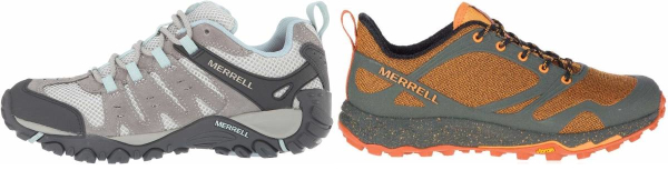 buy purple merrell hiking shoes for men and women
