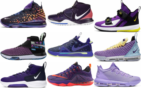 buy purple nike basketball shoes for men and women