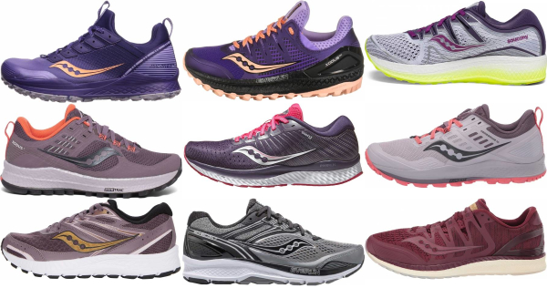 buy purple saucony running shoes for men and women
