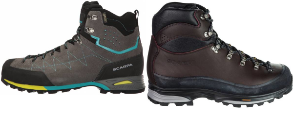buy purple scarpa hiking boots for men and women
