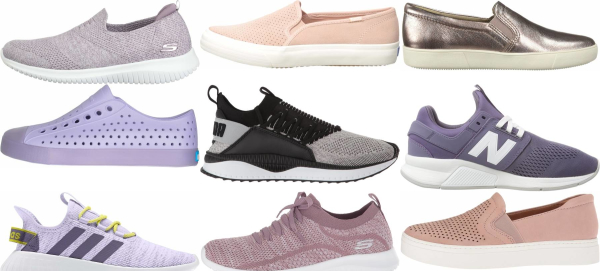 buy purple slip-on sneakers for men and women