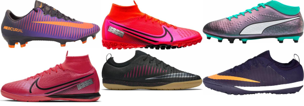 buy purple soccer cleats for men and women