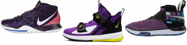 buy purple strap basketball shoes for men and women