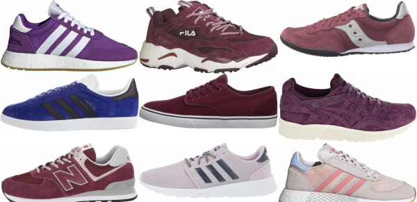 buy purple suede sneakers for men and women