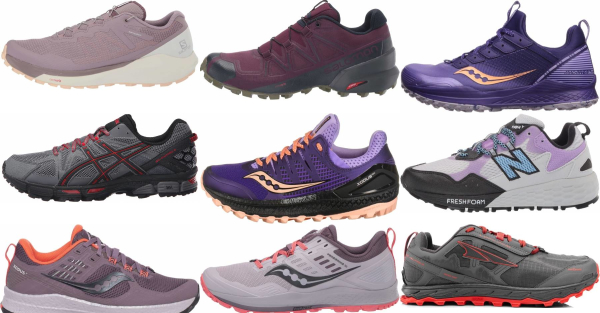 buy purple trail running shoes for men and women