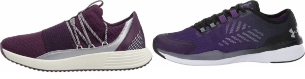buy purple under armour training shoes for men and women