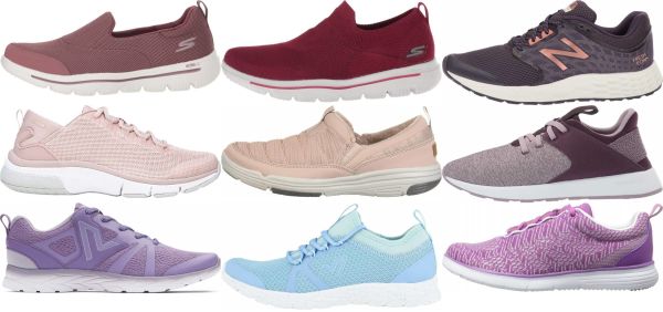 buy purple walking shoes for men and women