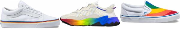 buy rainbow sneakers for men and women
