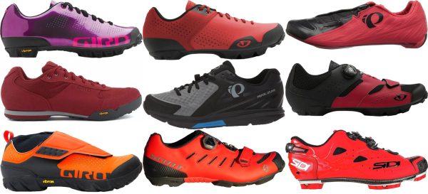 buy red 2 holes cycling shoes for men and women