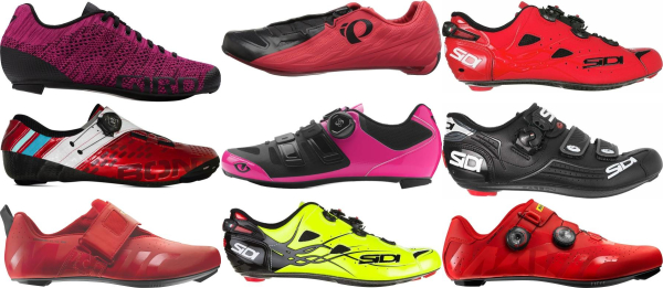 buy red 3 holes cycling shoes for men and women