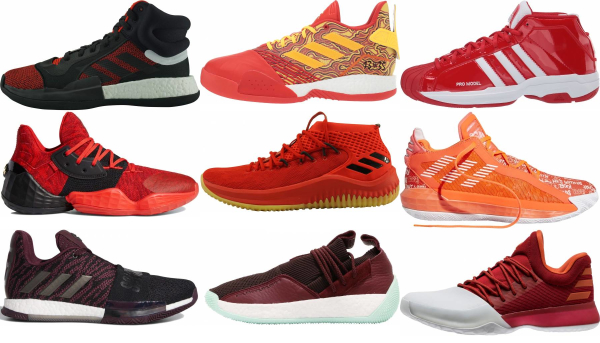 buy red adidas basketball shoes for men and women
