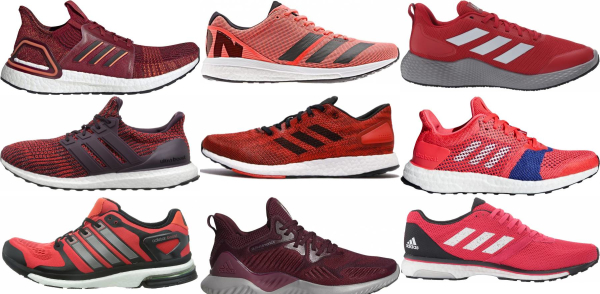 buy red adidas running shoes for men and women