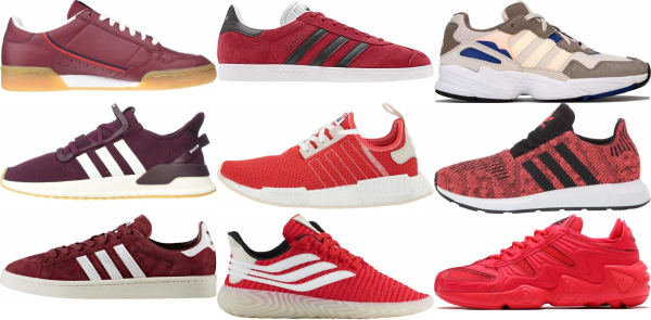 buy red adidas sneakers for men and women