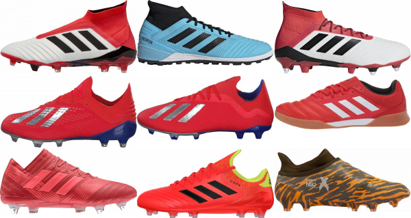 buy red adidas soccer cleats for men and women