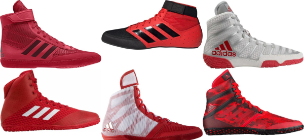 buy red adidas wrestling shoes for men and women