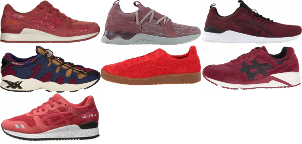 buy red asics sneakers for men and women