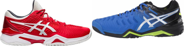 buy red asics tennis shoes for men and women