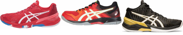 buy red asics volleyball shoes for men and women