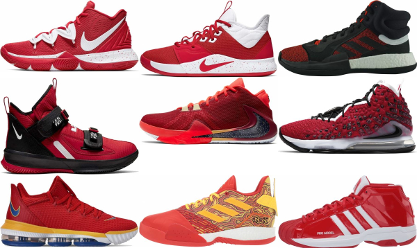 buy red basketball shoes for men and women