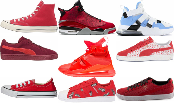 Save 30% on Red Basketball Sneakers (81 Models in Stock