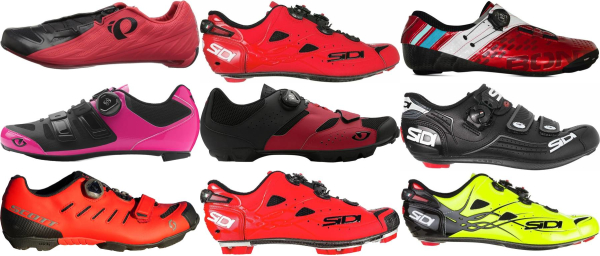 buy red boa cycling shoes for men and women