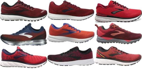 buy red brooks running shoes for men and women