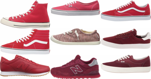 buy red canvas sneakers for men and women
