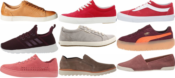 buy red casual sneakers for men and women