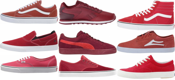 buy red cheap sneakers for men and women