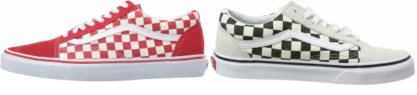 buy red checkered sneakers for men and women