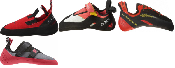 buy red climbing shoes for men and women