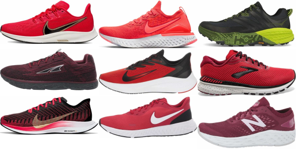 buy red comfortable running shoes for men and women