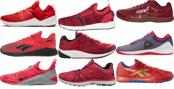 buy red cross-training shoes for men and women