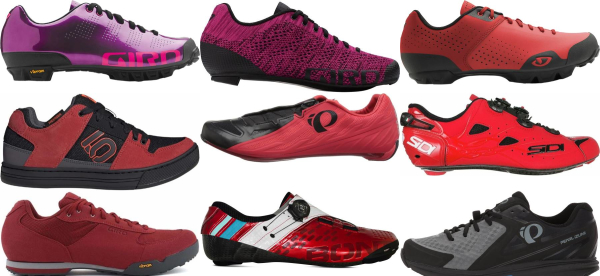 buy red cycling shoes for men and women