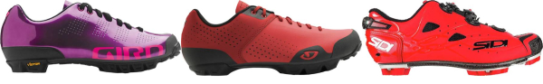 buy red cyclocross cycling shoes for men and women