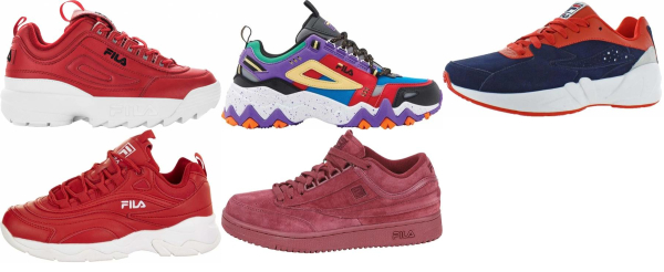 buy red fila sneakers for men and women